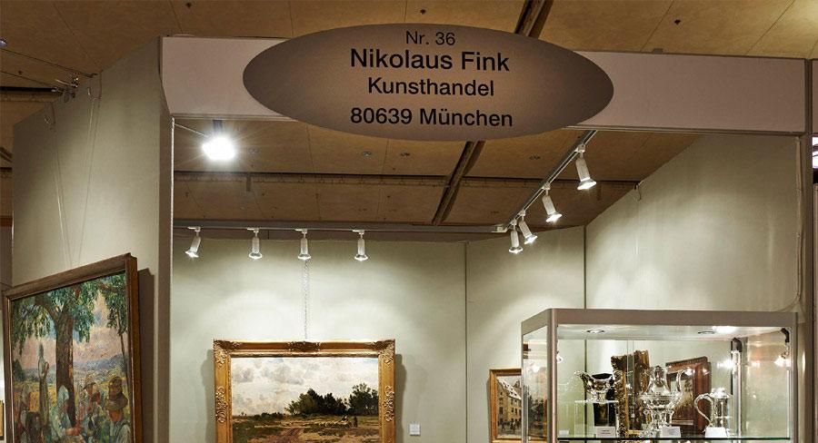 Messestand 36 auf der Kunst & Antiquitäten München im Paulaner am Nockherberg